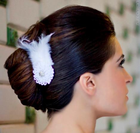 Peinados ladeados para novias
