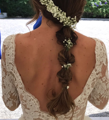 peinados para novias con trenzas
