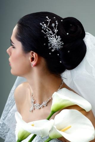 Peinados de boda vestido palabra de honor
